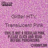 "Glitter HTV: 12"" x 5 Yard Roll - Translucent Pink"