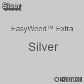 """12"""" x 15"""" Sheet Siser EasyWeed Extra HTV - Silver"""