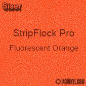 """12"""" x 15"""" Sheet Siser Stripflock Pro HTV - Fluorescent Orange"""