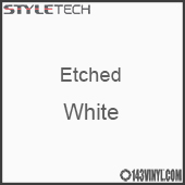 "Etched White Vinyl - 12""x12"" Sheet"