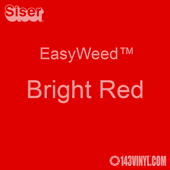 """EasyWeed HTV: 12"""" x 5 Foot - Bright Red"""