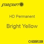 "12"" x 5' Roll - StarCraft HD Glossy Permanent Vinyl - Bright Yellow"