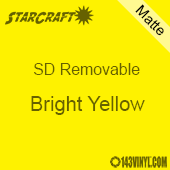 "12"" x 24"" Sheet -StarCraft SD Removable Matte Adhesive - Bright Yellow"