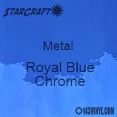 "12"" x 12"" Sheet - StarCraft Metal- Royal Blue Chrome"