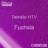 "12"" x 20"" Sheet Siser Twinkle HTV - Fuchsia"