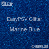 """Siser EasyPSV Glitter - Marine Blue (03) - 12"""" x 12"""" Sheet"""