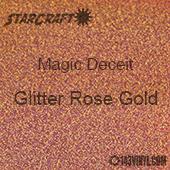 """12"""" x 24"""" Sheet - StarCraft Magic - Deceit Glitter Rose Gold"""