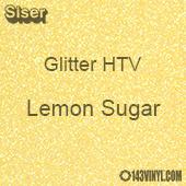 "Glitter HTV: 12"" x 20"" - Lemon Sugar"