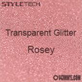 """StyleTech Transparent Glitter - Rosey - 12""""x24"""" Sheet"""