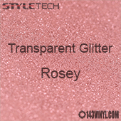 """StyleTech Transparent Glitter - Rosey - 12""""x12"""" Sheet"""