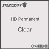 "12"" x 5' Roll - StarCraft HD Glossy Permanent Vinyl - Clear"