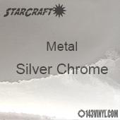 "12"" x 12"" Sheet - StarCraft Metal - Silver Chrome"