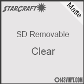 """12"""" x 10 Yard Roll  -StarCraft SD Removable Matte Adhesive - Clear"""