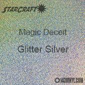 """12"""" x 12"""" Sheet - StarCraft Magic - Deceit Glitter Silver"""