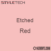 """Etched Red Vinyl - 12"""" x 24"""" Sheet"""