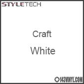 """Styletech Craft Vinyl - White- 12"""" x 24"""" Sheet"""