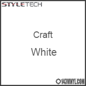 "Styletech Craft Vinyl - White- 12"" x 5 Foot"