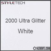 """StyleTech 2000 Ultra Glitter - 149 White - 12""""x12"""" Sheet"""