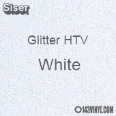 "Glitter HTV: 12"" x 5 Yard Roll - White"
