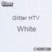 """Glitter HTV: 12"""" x 20"""" - White"""