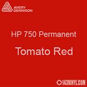 "Avery HP 750 - Tomato Red- 12"" x 24"" Sheet"
