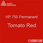 """Avery HP 750 - Tomato Red- 12"""" x 5 Foot"""