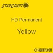 "12"" x 5' Roll - StarCraft HD Glossy Permanent Vinyl - Yellow"