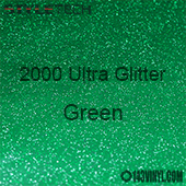 """StyleTech 2000 Ultra Glitter - 131 Green - 12""""x24"""" Sheet"""