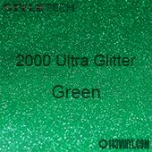 """StyleTech 2000 Ultra Glitter - 131 Green - 12""""x12"""" Sheet"""
