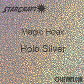 "12"" x 12"" Sheet - StarCraft Magic - Hoax Holo Silver"