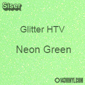 """Glitter HTV: 12"""" x 5 Yard Roll - Neon Green"""