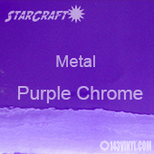 "12"" x  24"" Sheet - StarCraft Metal -Purple Chrome"