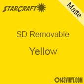 "12"" x 12"" Sheet -StarCraft SD Removable Matte Adhesive - Yellow"