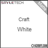 """Styletech Craft Vinyl - Matte White- 12"""" x 5 Foot"""