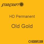 "12"" x 12"" Sheet - StarCraft HD Glossy Permanent Vinyl - Old Gold"