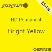 "12"" x 5' Roll - StarCraft HD Matte Permanent Vinyl - Bright Yellow"
