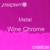 "12"" x  24"" Sheet - StarCraft Metal - Wine Chrome"