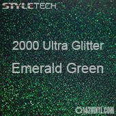 """StyleTech 2000 Ultra Glitter - 176 Emerald Green - 12""""x12"""" Sheet"""