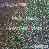 "12"" x 24"" Sheet - StarCraft Magic - Hoax Holo Gun Metal"