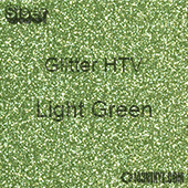 """Glitter HTV: 12"""" x 5 Yard Roll - Light Green"""
