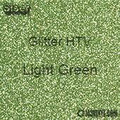"""Glitter HTV: 12"""" x 20"""" - Light Green"""