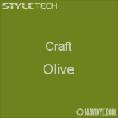 "Styletech Craft Vinyl - Olive- 12"" x 24"" Sheet"
