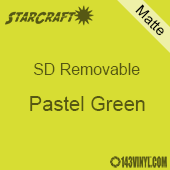 """12"""" x 10 Yard Roll  -StarCraft SD Removable Matte Adhesive - Pastel Green"""