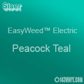 """12"""" x 15"""" Sheet Siser EasyWeed Electric HTV - Peacock Teal"""