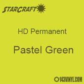 "12"" x 5' Roll - StarCraft HD Glossy Permanent Vinyl - Pastel Green"
