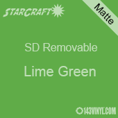 """12"""" x 10 Yard Roll  -StarCraft SD Removable Matte Adhesive - Lime Green"""