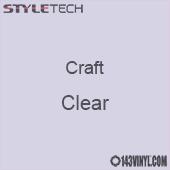 "Styletech Craft Vinyl - Clear- 12"" x 5 Foot"