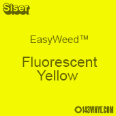 """12"""" x 24"""" Sheet SiserEasyWeed HTV - Fluorescent Yellow"""