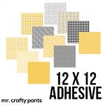 """Mr.Crafty Pants Spring Collection - Printed Pattern Adhesive Vinyl- 12"""" x 12"""" Sheets"""