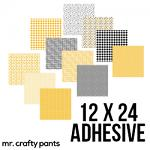 """Mr.Crafty Pants Spring Collection - Printed Pattern Adhesive Vinyl- 12"""" x 24"""" Sheets"""
